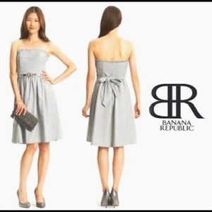Banana republic grey wool dress